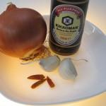 ingredientes para las espinacas con carne