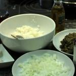 ingredientes de las albóndigas vegetarianas