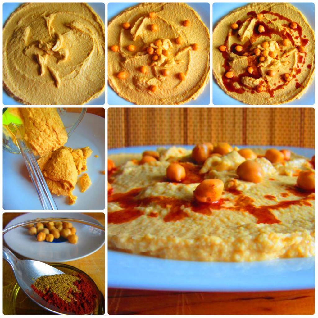 decoración del hummus