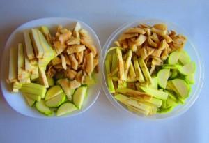 verduras preparadas para wok