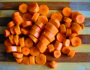 zanahoria picada