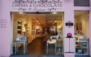 crema y chocolate tienda