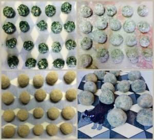 Los pasos para hacer las croquetas vegetarianas
