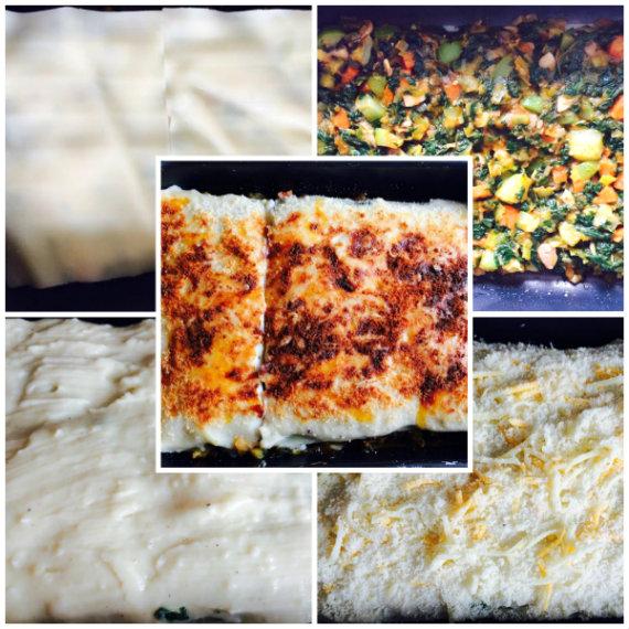 montaje lasaña vegetariana