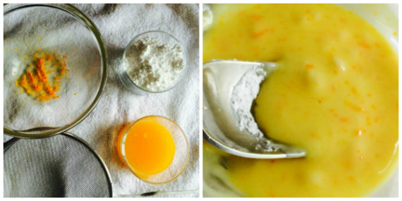 preparar glaseado de naranja