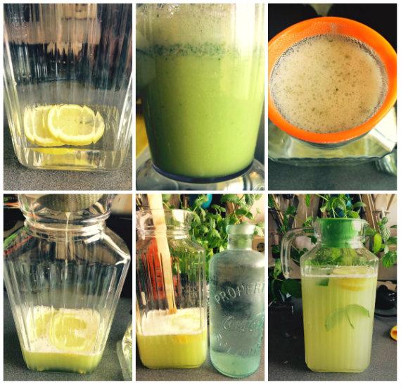 Preparación final de la jarra de Limonada Oasis