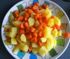 La verdura para el acompañamiento
