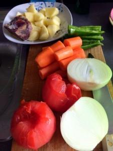 Preparativos verduras