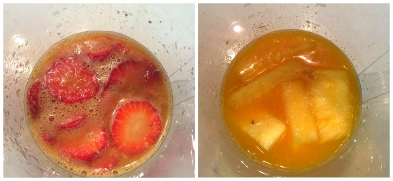 Añadir fruta troceada