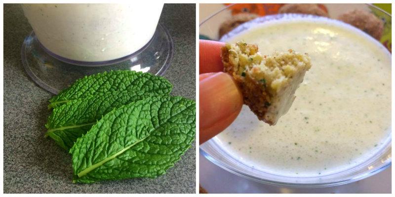 Salsa especial de yogur, pepino y hierbabuena