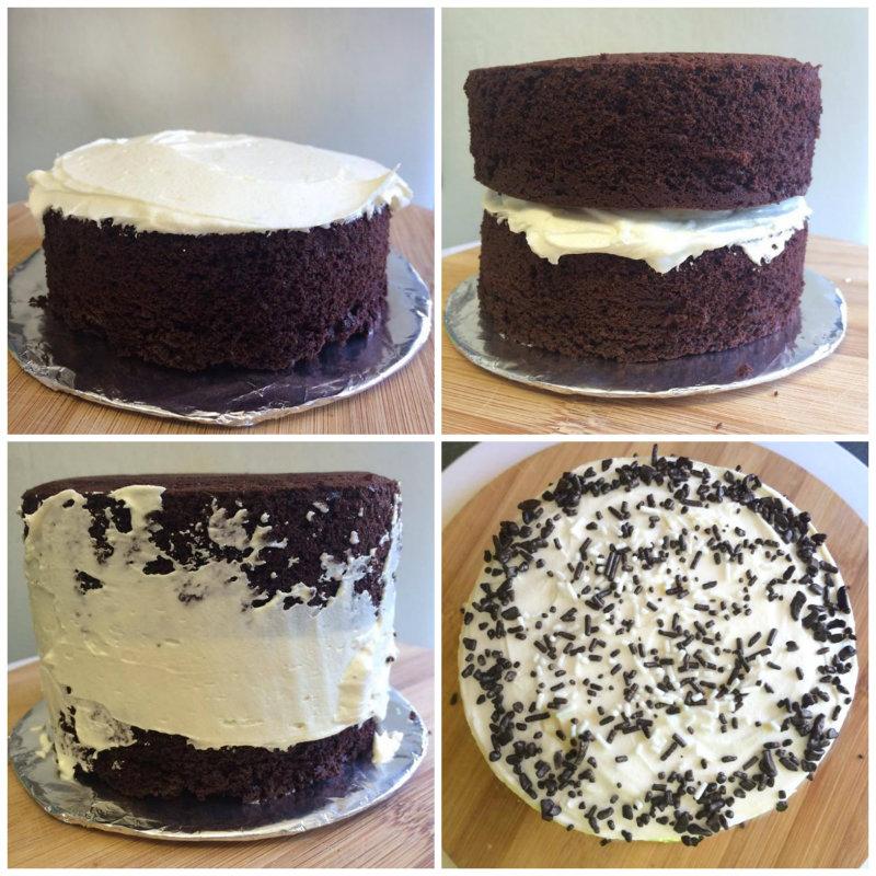 montaje de la mini tarta