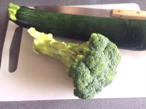 Verduras tamaño