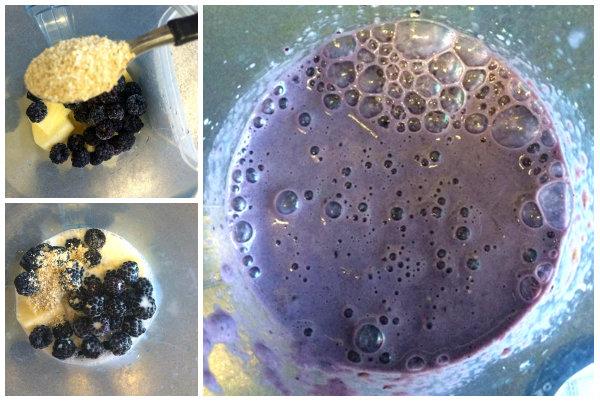 preparando-batido-de-manzana-mora-y-avena