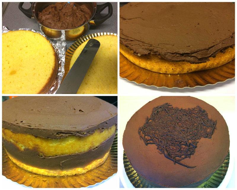 Preparación-final-de-la-tarta-de-naranja-y-chocolate