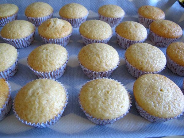 magdalenas de limón horneadas