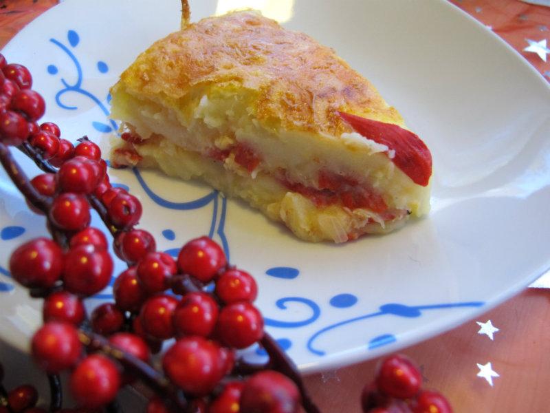Porción pastel de bacalao