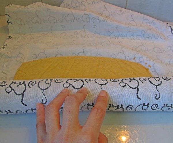 masa en bandeja para hornear