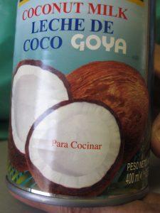 leche de coco para cocinar