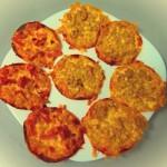 Mini pizzas caseras horneadas