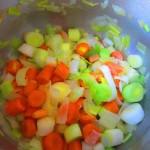 sofriendo verdura