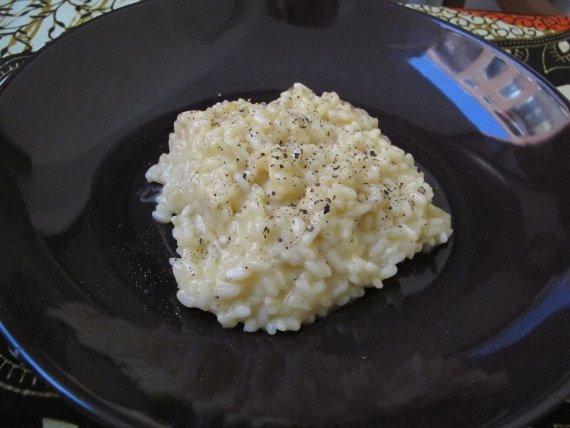 Risotto de quesos y mantequilla