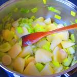 pochando verdura