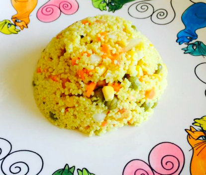 cous cous o tabule vegetariano