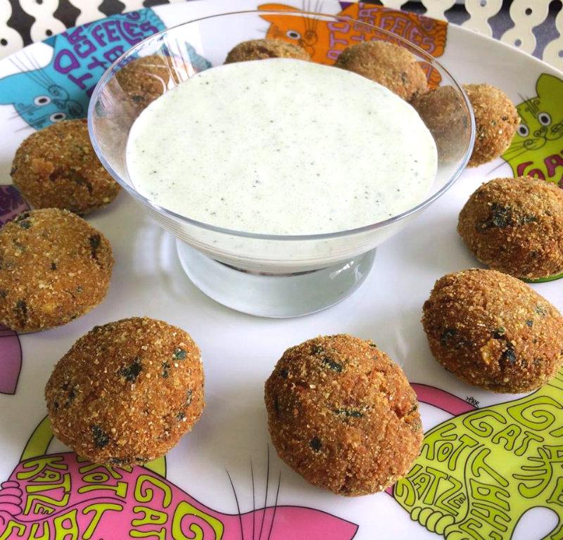 Falafel casero con salsa especial de yogur