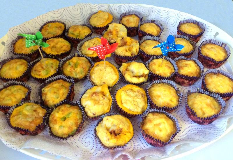 ¡Tortillas en magdalenas! 3 variedades en 1